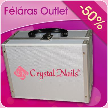 Trendi fémtáska – Crystal Nails logóval 9399e359c7