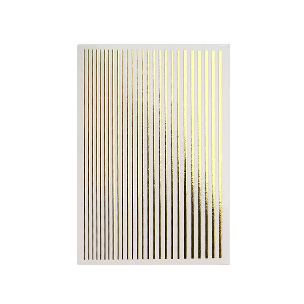 Magic stripes sticker - GOLD