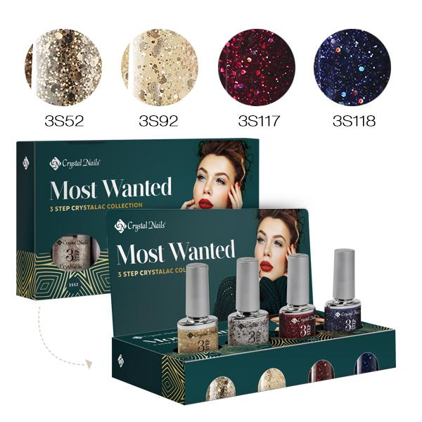 Most Wanted! 3 STEP CrystaLac készlet 2019 WINTER (4x4ml)