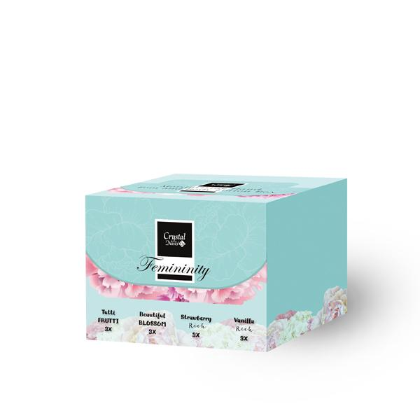 Moisturising Hand, Foot and Body Lotion Box - Femininity 12x30ml
