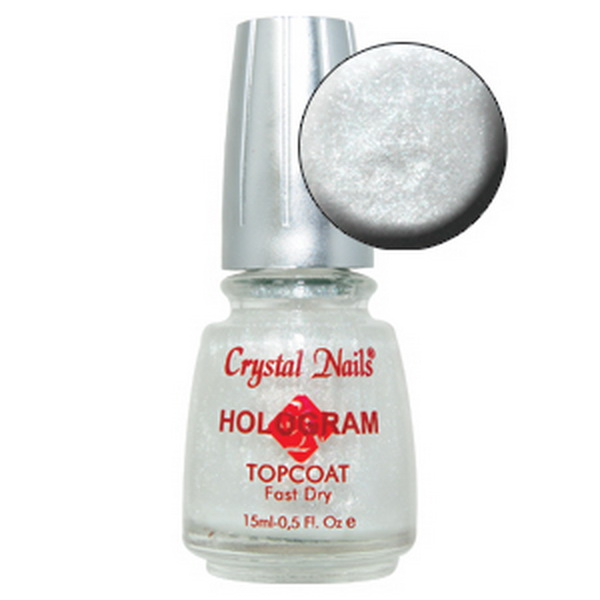 Hologram Topcoat - Pearly White - 15ml